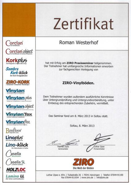 Zertifikat ZIRO Praxisseminar